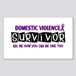 Domestic Violence Survivor 1 Rectangle Sticker